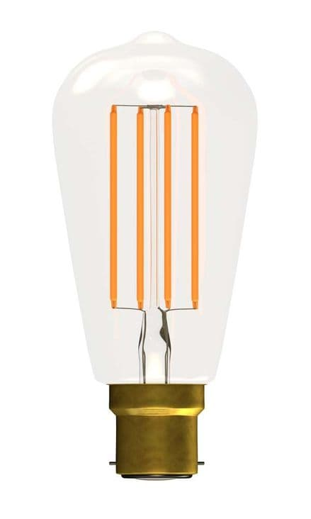 BELL 60132 4W LED Filament Squirrel Cage Clear Dimmable BC 2700K